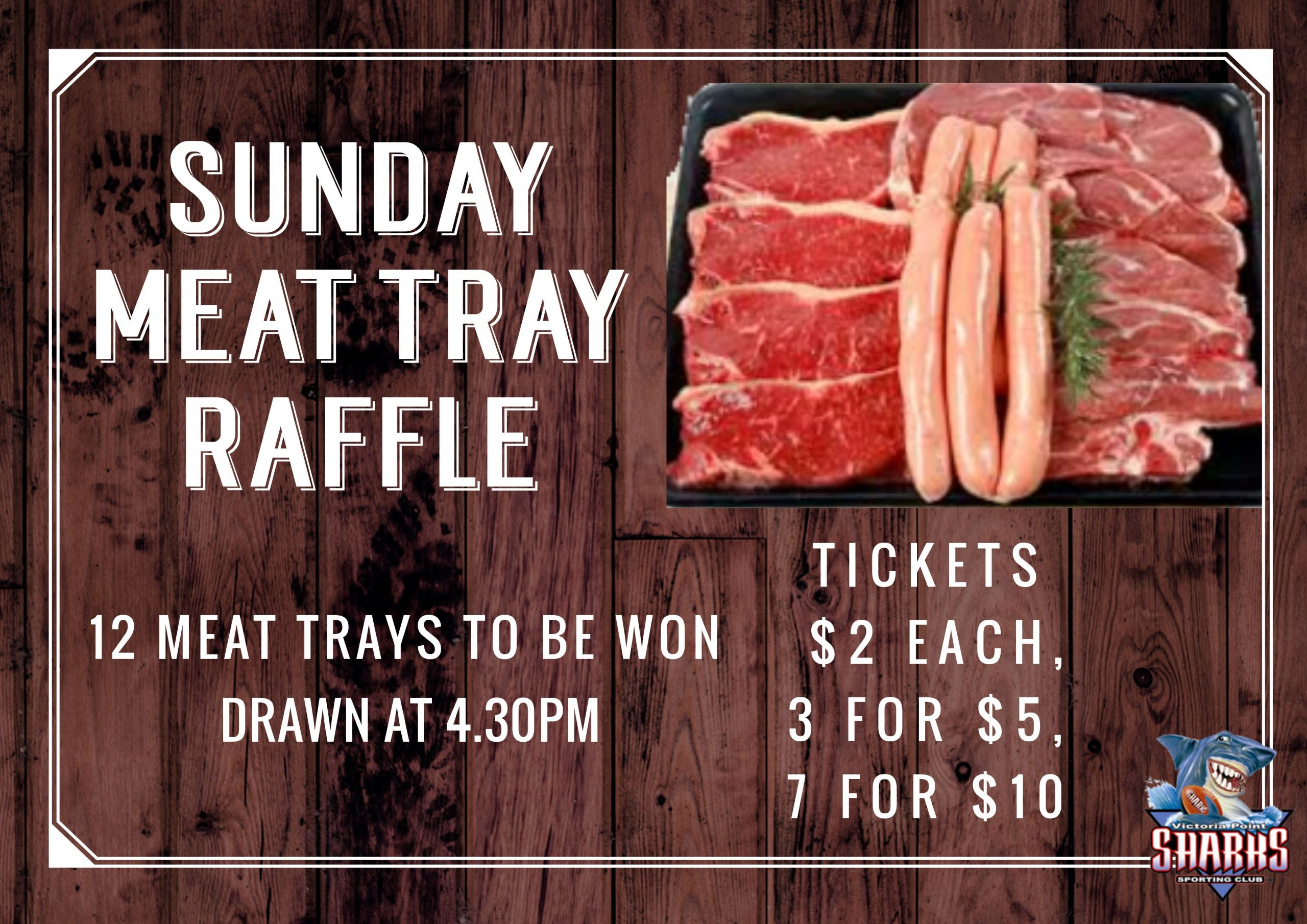 sunday meat tray raffle