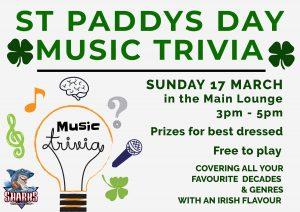 St Paddys Day Music Trivia