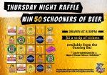 50 Schooners of Beer raffle
