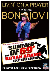 Bon Jovi and Bryan Adams Tribute Shows