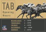 TAB and Sports Bar hours