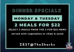 2 for$22 Dinner Specials